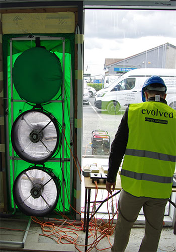 Evolved Energy - air tightness testing